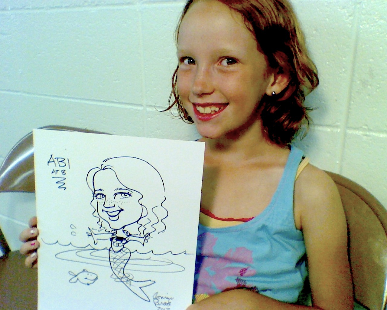 Abi mermaid caricature