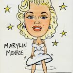 Caricature Portrait of Marylin Monroe