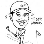 Caricature Portrait of Tiger Woods