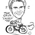 Caricature Portrait of Tom Cruise
